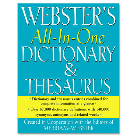 Merriam Webster All-In-One Dictionary Thesaurus 1cce0cb38