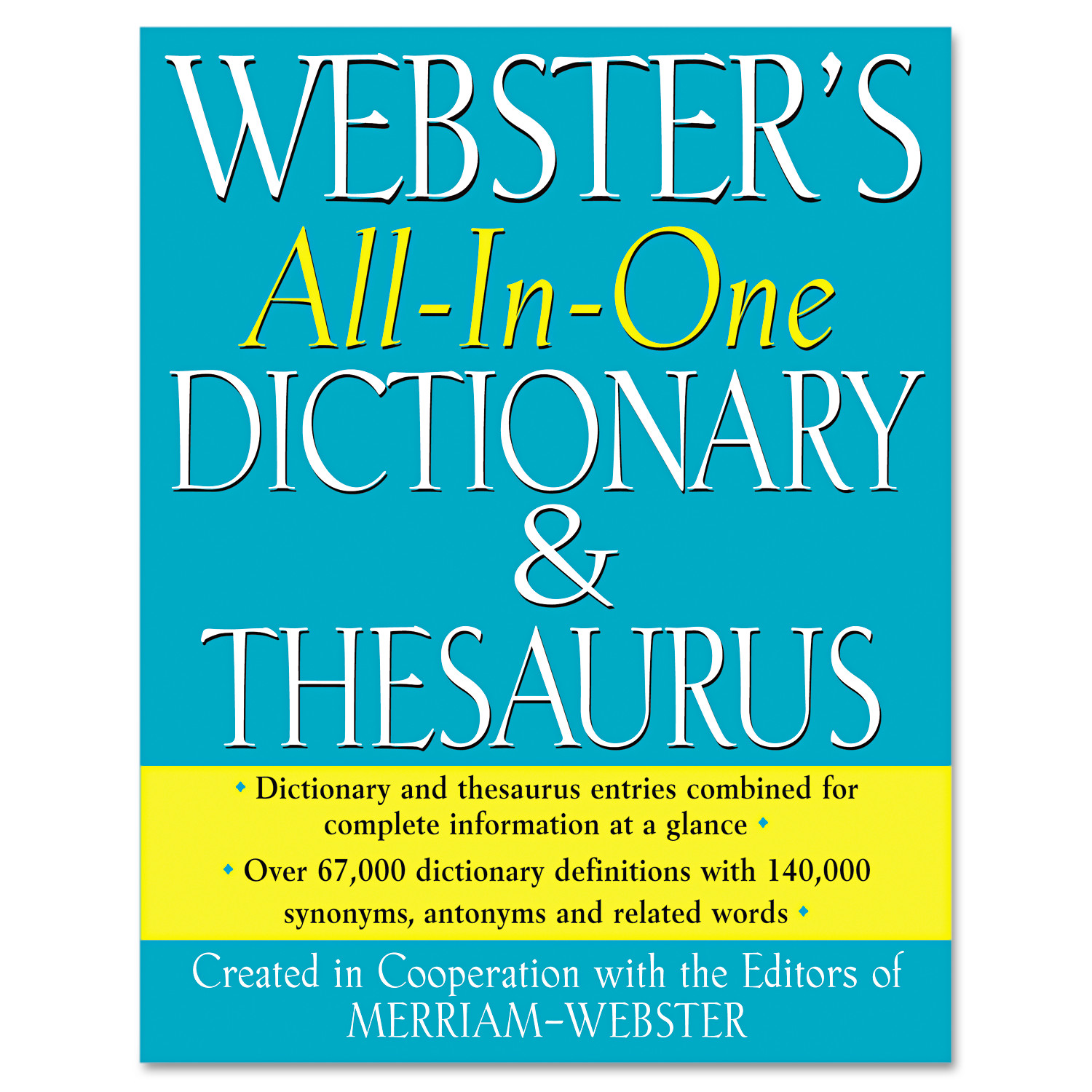 Merriam Webster All-In-One Dictionary/Thesaurus, Hardcover, 768 Pages