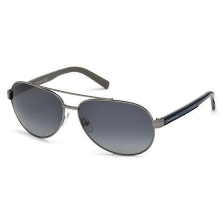 ERMENEGILDO ZEGNA Sunglasses EZ0004 08D Shiny Gumetal - Zinna Glasses