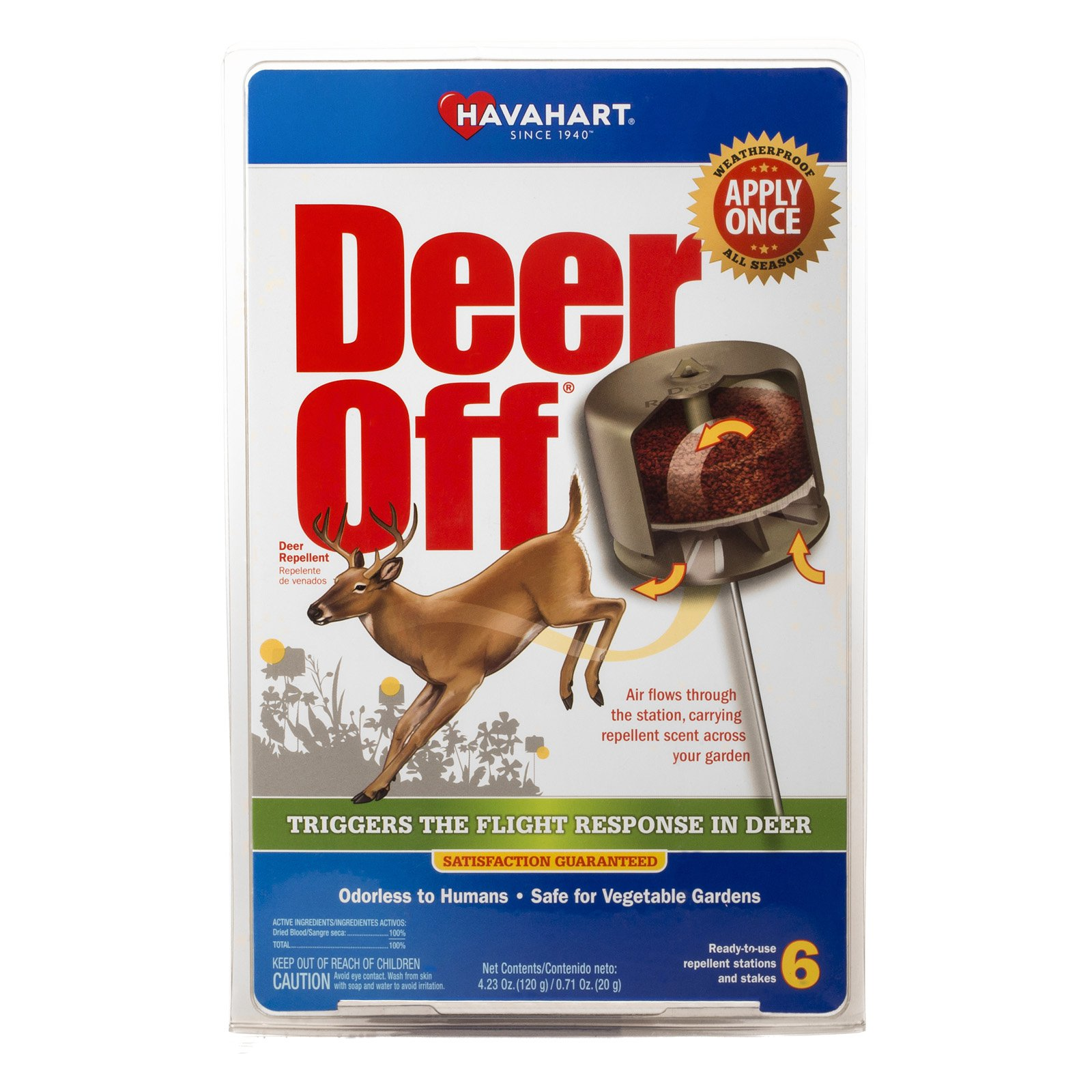 Havahart DO5600-6 Deer Off Deer Repellent 6 Count