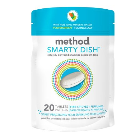 method Smarty Dish Non-toxic Dishwasher Detergent Tabs Free of Dyes + Perfumes 20.0 ea(