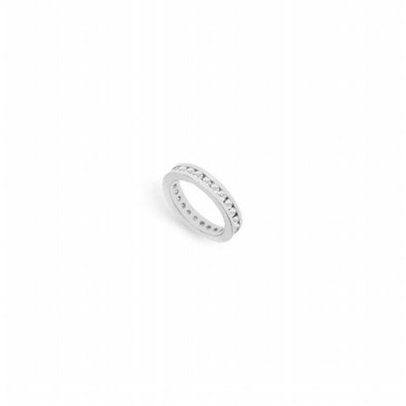 1 CT Diamond Eternity Band in 18K White Gold First & Second Wedding Anniversary Ring - Size 6