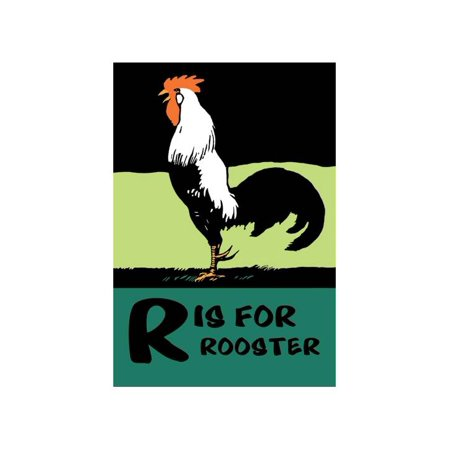 R Is For Rooster Print (Unframed Paper Print - Rooster For Sale