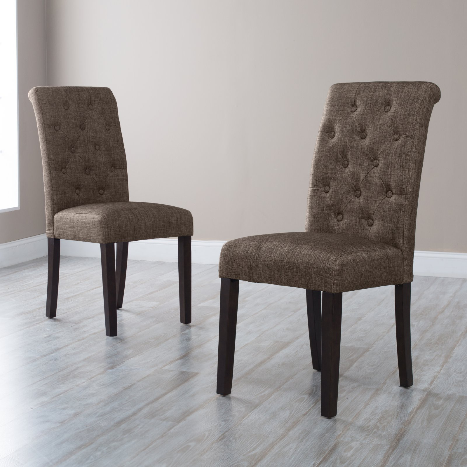 Morgana Tufted Parsons Dining Chair Set of 2 by Chintaly Imports