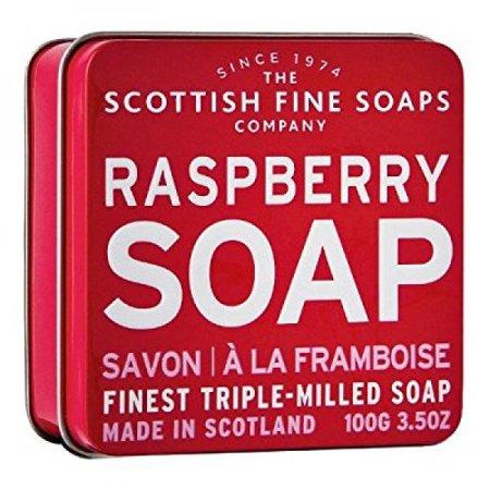 - the scottish fine soaps company soap tin collection - raspberry (100)g