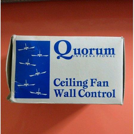 Quorum Ceiling Fan Wall Control White Fan Slider 7-1191-6 ~BRAND NEW IN BOX ()