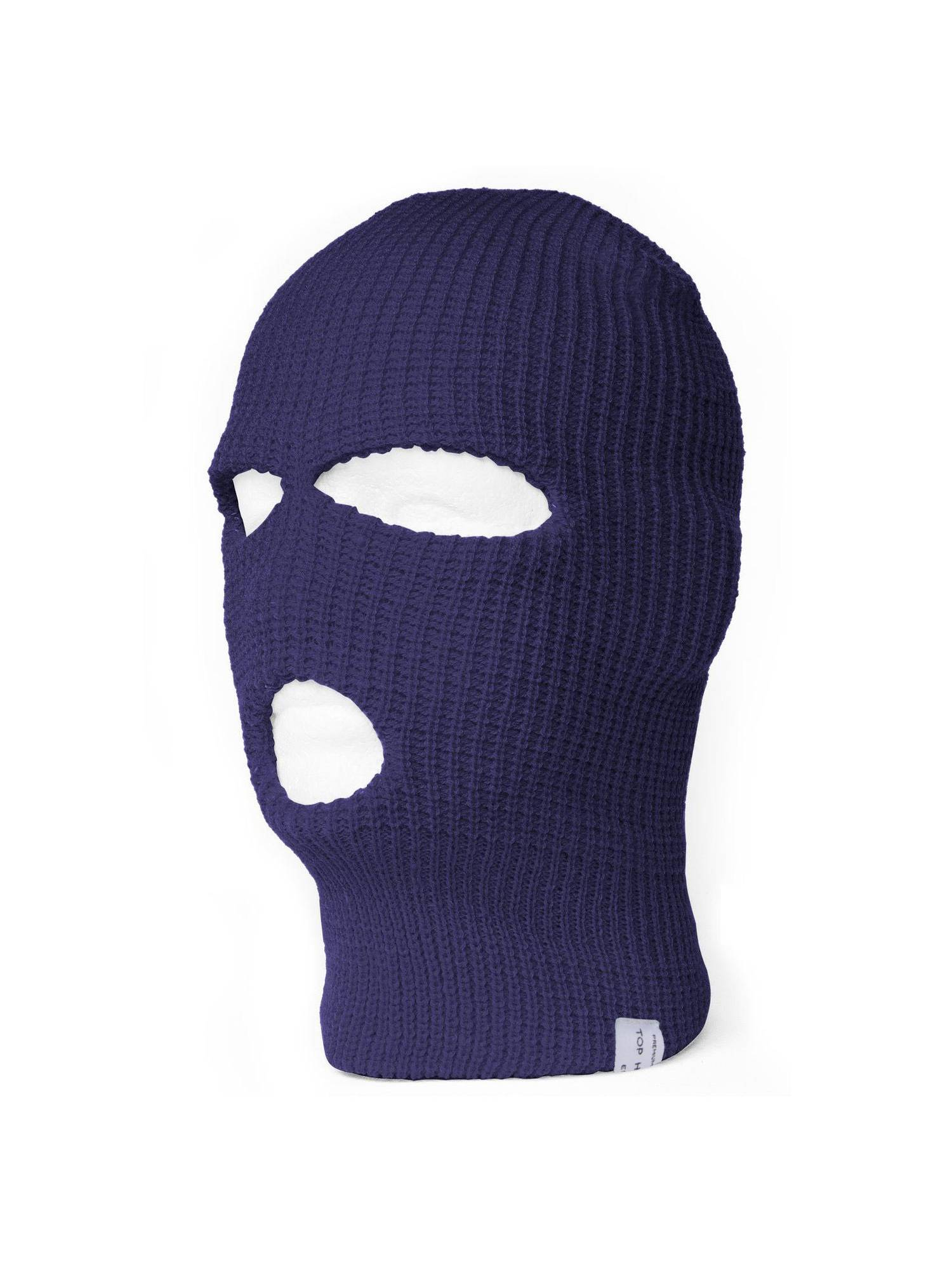 ski face mask beanie hat with 3 holes lace up in 7c386 75aff ... e78a944d55e1