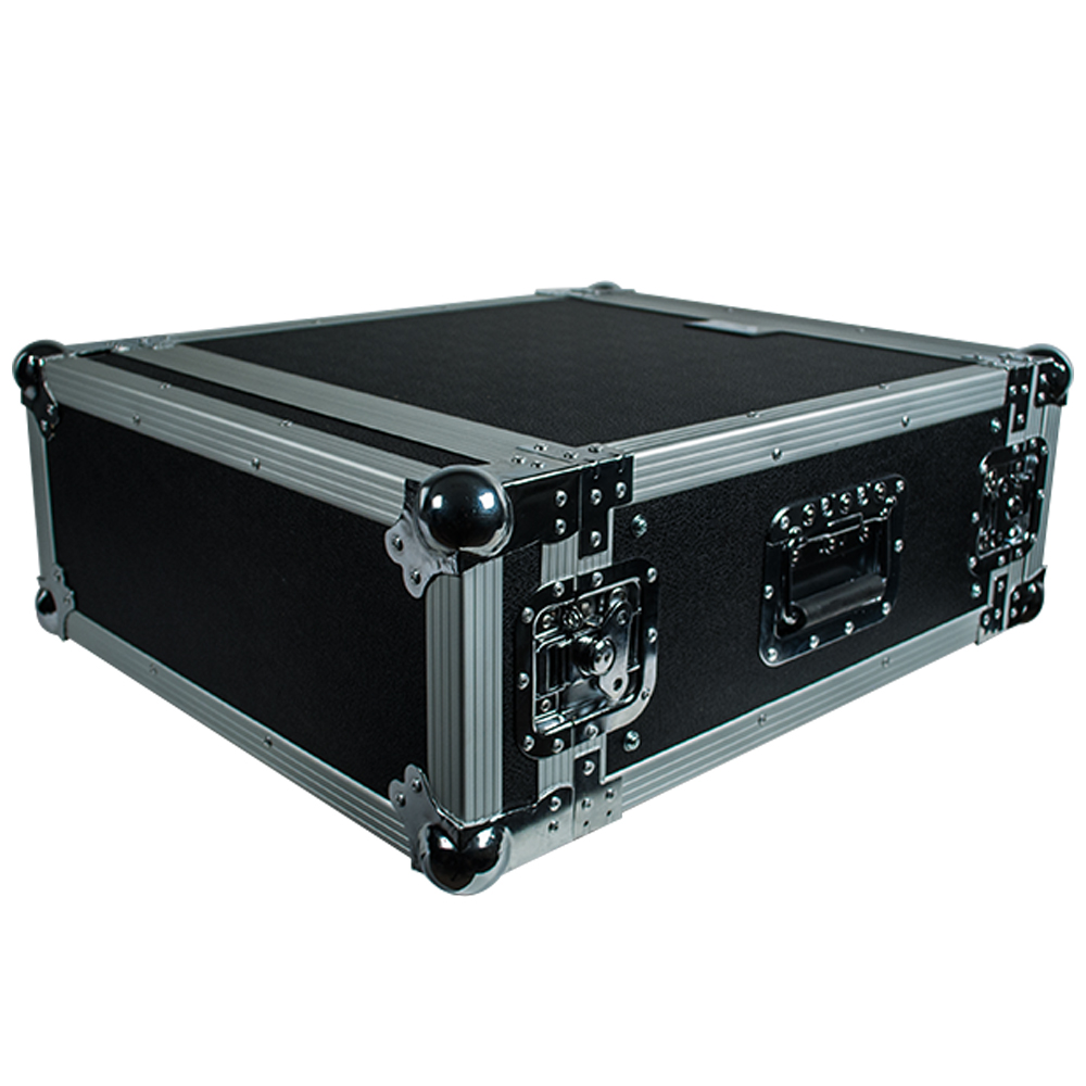 Seismic Audio 4 SPACE RACK CASE Amp Effect Mixer PA/DJ PRO Audio New Black - SAR4