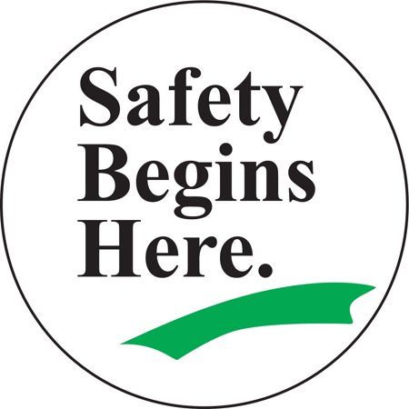 Accuform Signs Floor Sign  17In  Safety Begins Here Mfs707