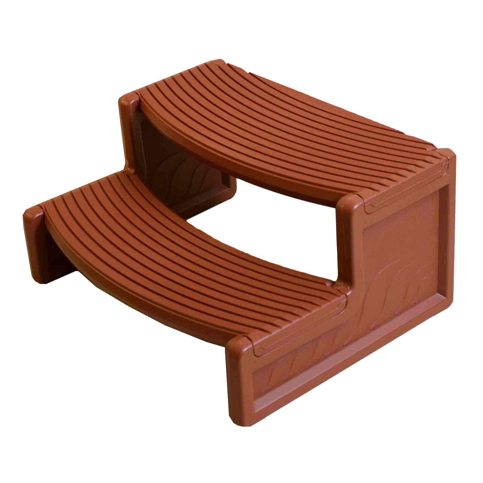 Confer Plastics HS2-R Resin Multi Purpose Spa Hot Tub Handi-Step Steps, Redwood