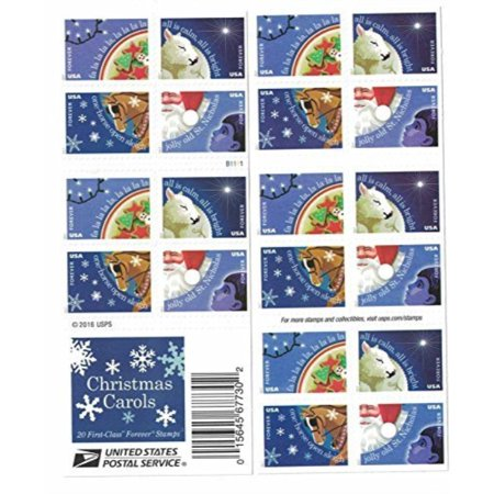Usps Christmas Stamps.Christmas Carols Usps Forever Stamps Book Of 20 New 2017 Release