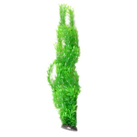 """Green Plastic Long Water Plants Decoration 20"""" Height for Fish Tank - image 1 de 1"""