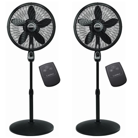 Lasko 18 Inch Oscillating Cyclone Pedestal Stand Fan w/ Remote Control (2 Pack) - image 6 of 6