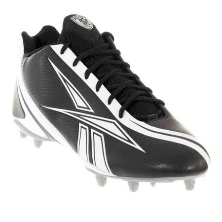 REEBOK PRO BURNER SPEED 5/8 M3 MENS FOOTBALL CLEATS BLACK WHITE 15