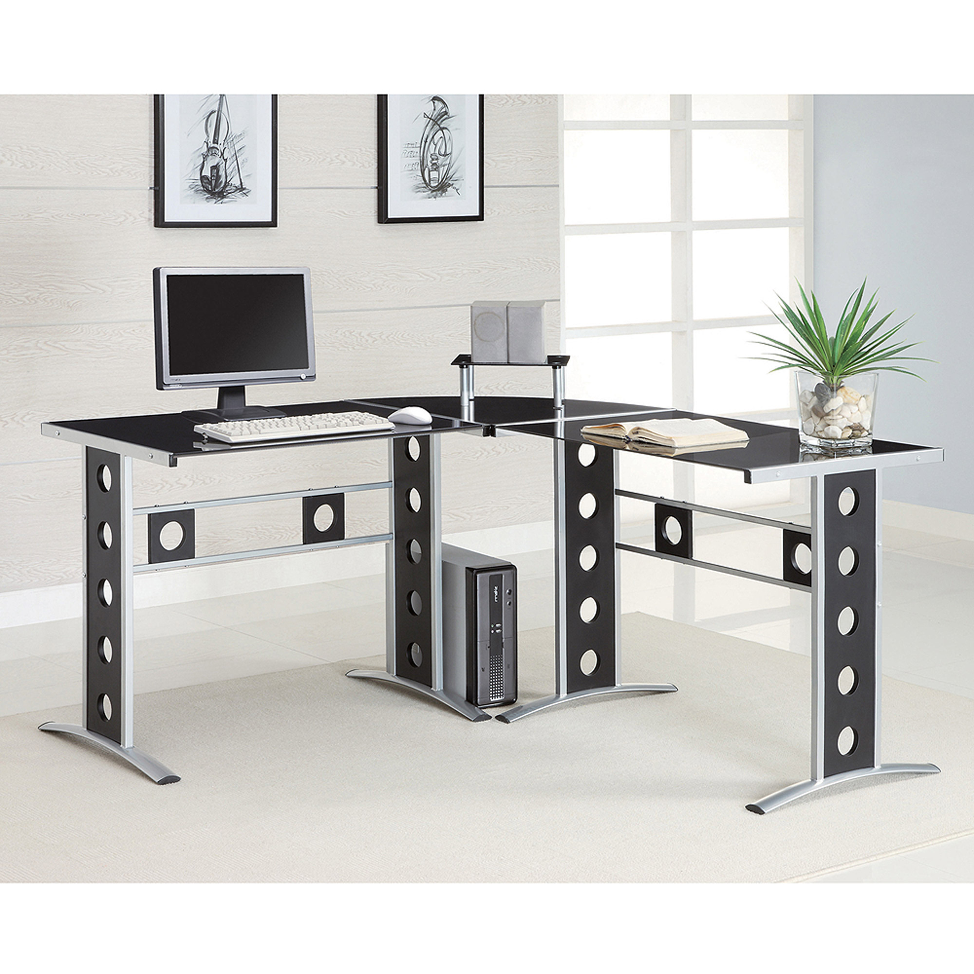 coaster contemporary computer desk  walmartcom -