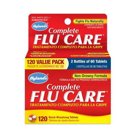 - Hyland's Complete Flu Care Tablets, Natural Non-Drowsy Relief of Flu Symptoms, 120 Count