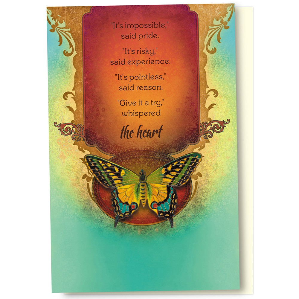 Tree-Free Greetings Not Impossible Boxed ECOnotes Blank Note Cards-FS56169