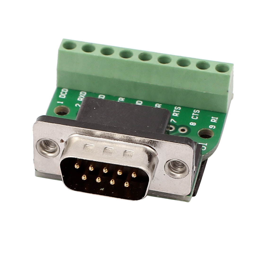 DB9 RS232 Serial Male Adapter Plate 9 Position Signal Module w Socket