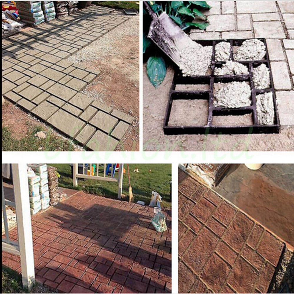 DIY Personalized Pathmate Stone Road Mold Garden Walk Maker Outdoor Patio  Concrete Stepping Stone (Black)   Walmart.com