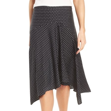 Classiques Entier Printed Large Asymmetrical Silk Skirt