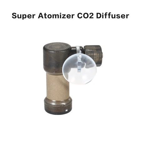 Super Atomizer CO2 Diffuser Atomizer Carbon Dioxide Bubble Diffuser Aquarium Reactor ()