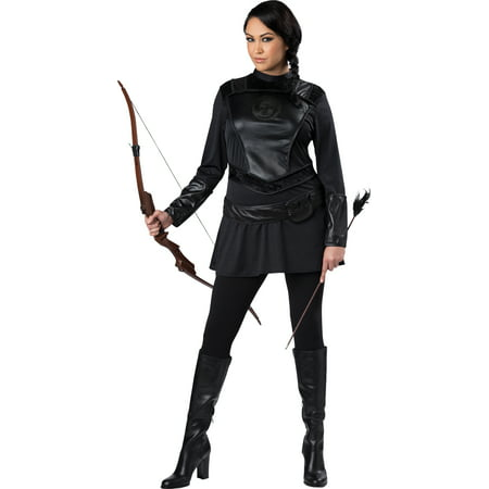 The Warriors Halloween Costume (Warrior Huntress Women's Plus Size Adult Halloween Costume, One Size, XXL)
