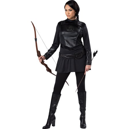 Warrior Huntress Women's Plus Size Adult Halloween Costume, One Size, XXL (20-22) - Halloween Costumes Size 20-22
