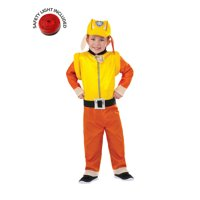 Paw Patrol Rubble Classic Costume Kit With Safety Light - Toddler