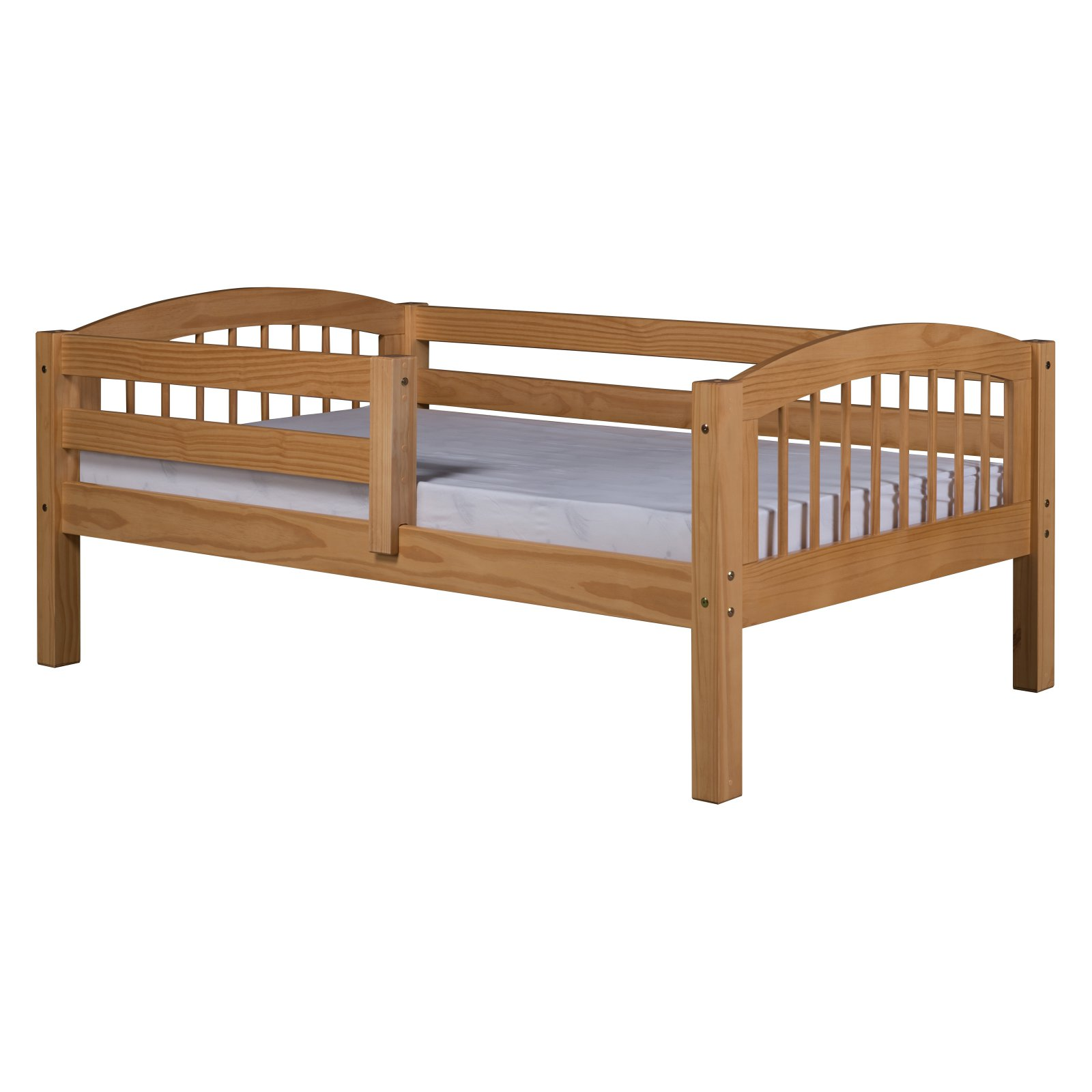 Camaflexi Twin Size Day Bed - Arch Spindle Headboard - Natural Finish