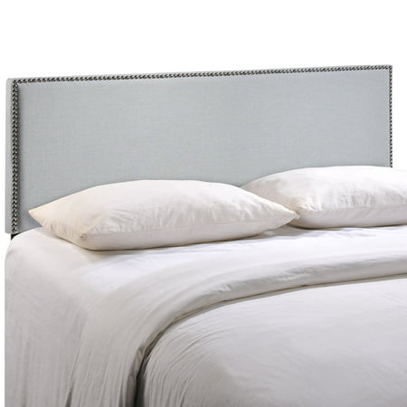 Region King Nailhead Upholstered Headboard Sky Gray - Modway