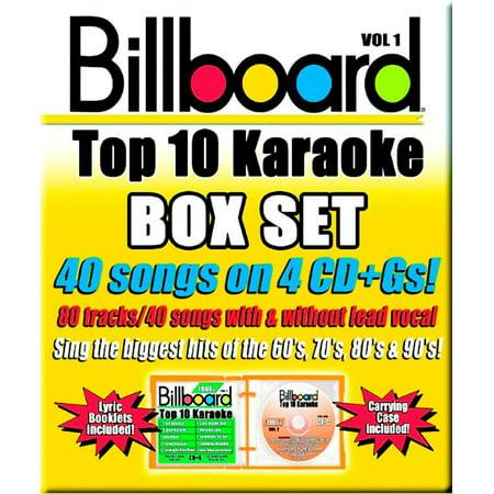 Billboard Top 10 Karaoke, Vol.1 (4 Disc Box Set)