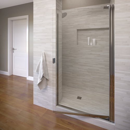 Basco Armon 34.25'' x 66'' Pivot Semi-Frameless Shower Door