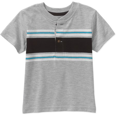 49cad2082 Garanimals - Toddler Boy Short Sleeve Striped Henley Tee - Walmart.com