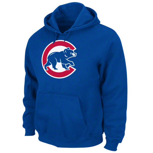 MLB - Chicago Cubs Tek Royal Patch Hooded Sweatshirt