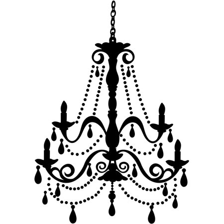 RoomMates Chandelier with Gems Peel-and-Stick Giant Wall Decal