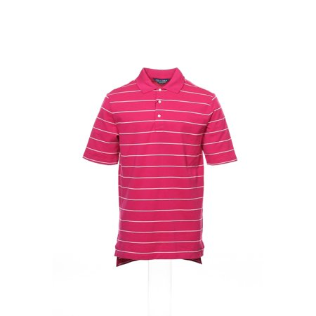 Polo Golf By Ralph Lauren Mens Pink Wide Striped Polo Shirt