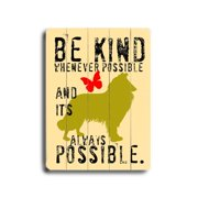 Artehouse LLC Be Kind by Ginger Oliphant Graphic Art Plaque