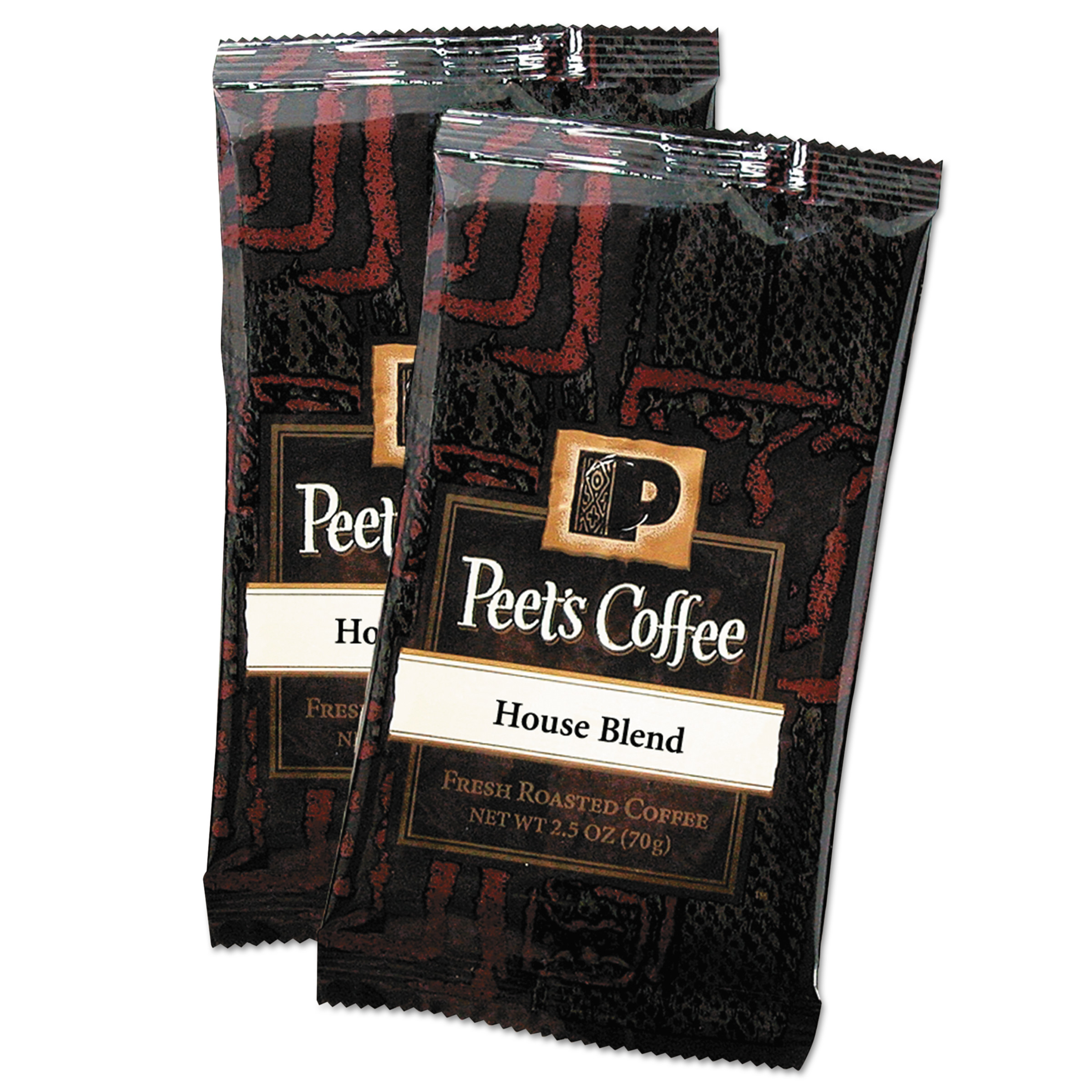 Peet's Coffee & Tea Coffee Portion Packs, House Blend, 2.5 oz Frack Pack, 18/Box