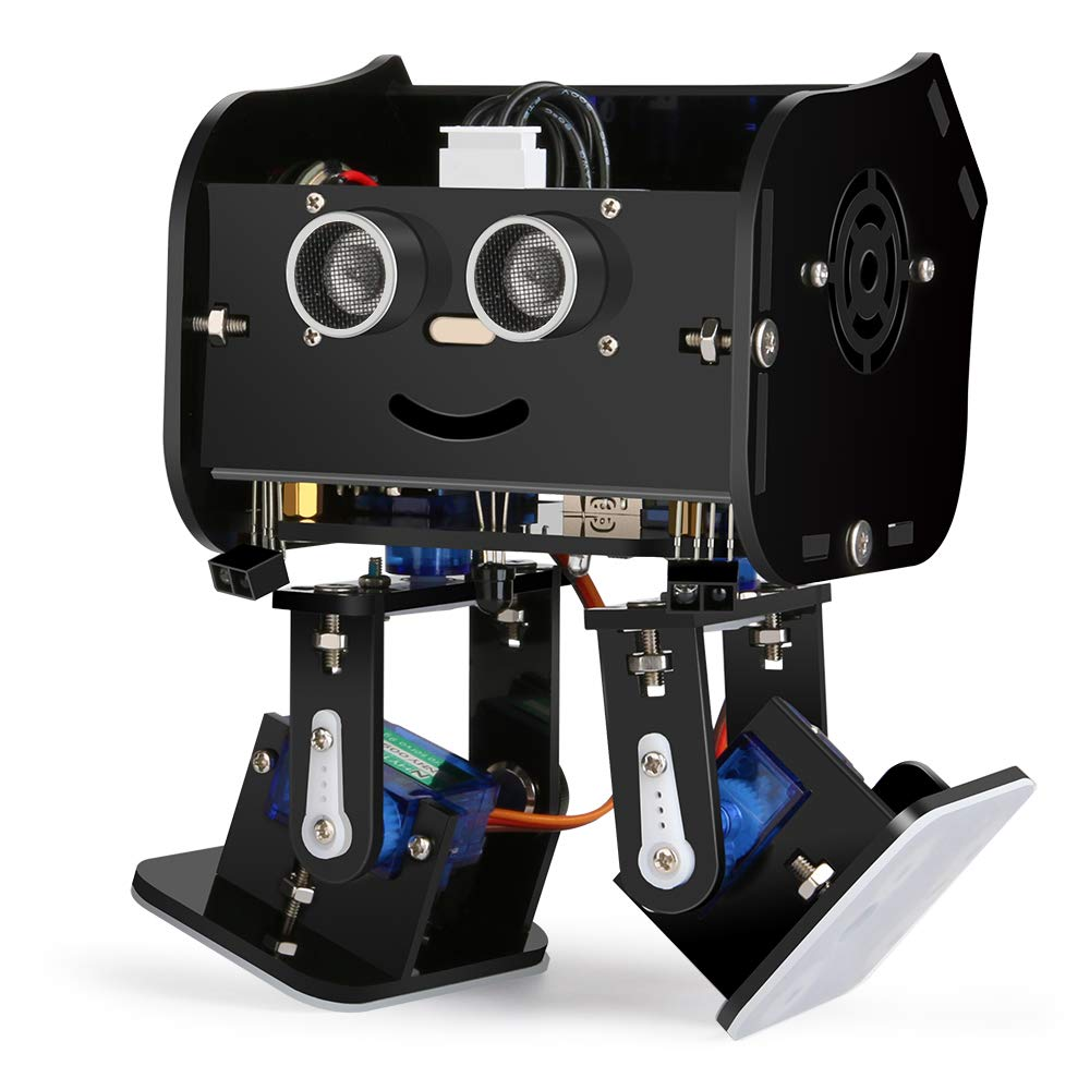 KIDdesigns Arduino Project,Penguin Bot Arduino Biped Robot Kit with Assembling Tutorial,STEM Kit for Hobbyists, STEM Toys for Kids and Adults, Black Version