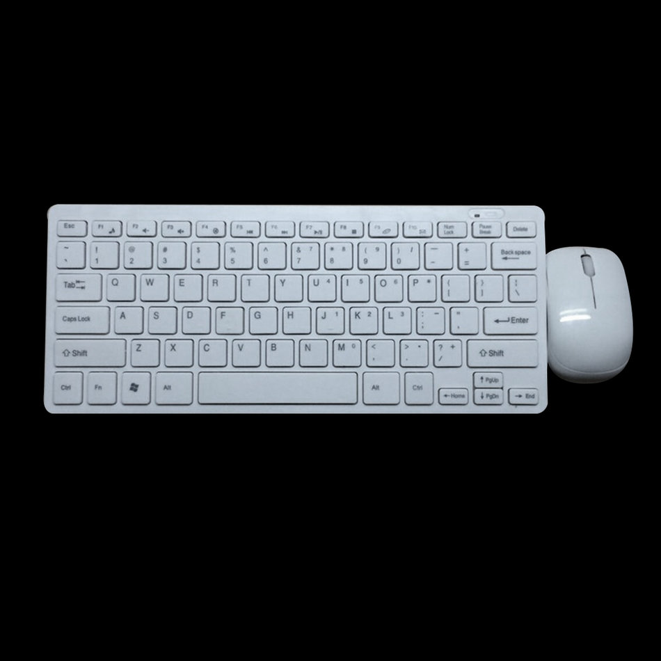 LESHP Ultra-thin Wireless keyboard and Optical Mouse Combo, 2.4G 1600DPI 3 Keys ABS Plastic Keyboard and Mouse