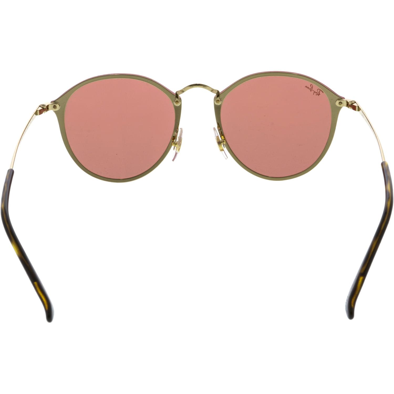 b56be7f340 Ray-Ban Women s Polarized Blaze Round RB3574N-001 E4-59 Gold Sunglasses