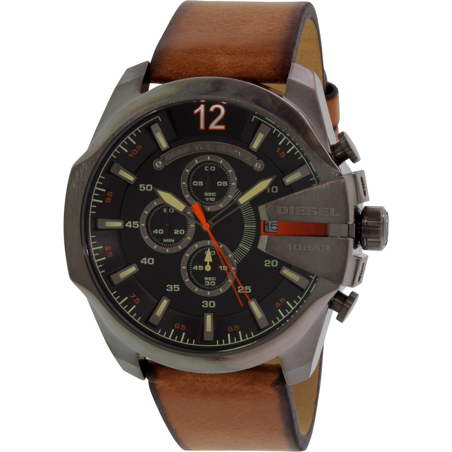 Diesel Men's DZ4343 Brown Leather Quartz Watch