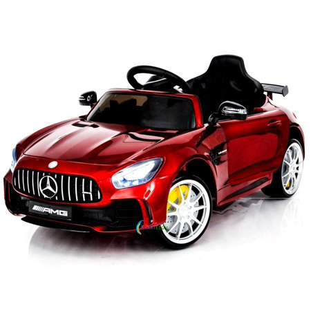 Electric power 12V Mercedes GTR ride on car for Kids with Remote Control Opening doors LED lights MP3 - Red