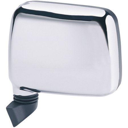 Rodeo Manual Mirror - 64010I - Fit System Driver Side Mirror for 88-93 Isuzu Pick-Up US built, 91-92 Rodeo, chrome, foldaway, Manual