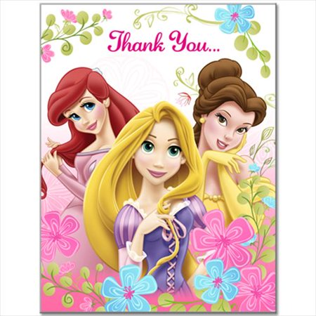 Disney Princess 'Fanciful Princesses' Thank You Notes w/ Envelopes (8ct) - Fanciful Gifts
