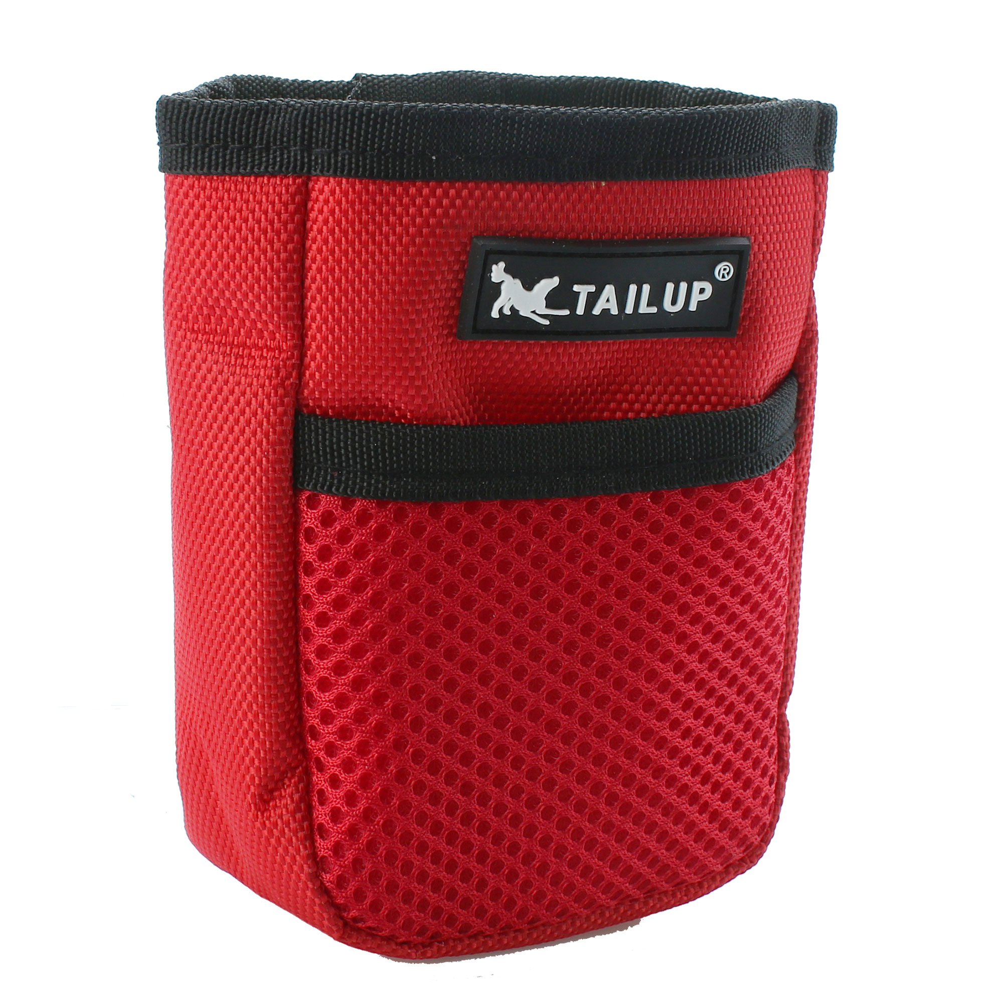 TAILUP Authorized Dog Treat Pouch Training Bag Pet Accessory Holder Red