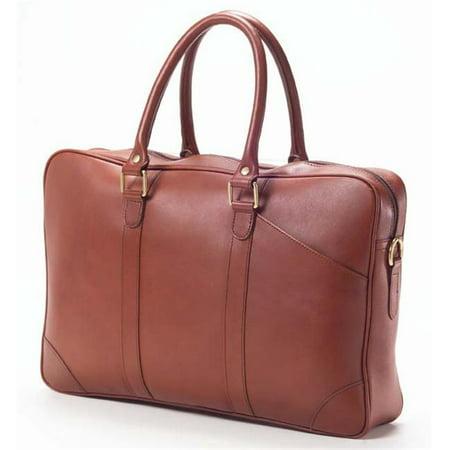 Clava SF-4 Slim Top Handle Briefcase - Bridle Cognac