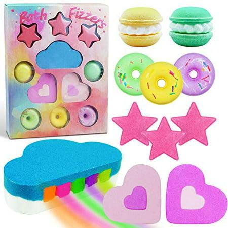 SCENTORINI Bath Bombs, Bath Fizzers, Kids Bath Bombs Gift Set, Rainbow Bath Bombs Inclued, Natural Handmade Bath Bombs Gift for Girls, Mom, Wife, Family, 11 Pack
