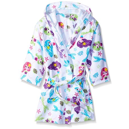 386fc5a36261e Komar Kids Girls Cotton Hooded Terry Robe Cover Up, Kids Sizes 3-12, White,  Size: Small / 5-6 - Walmart.com