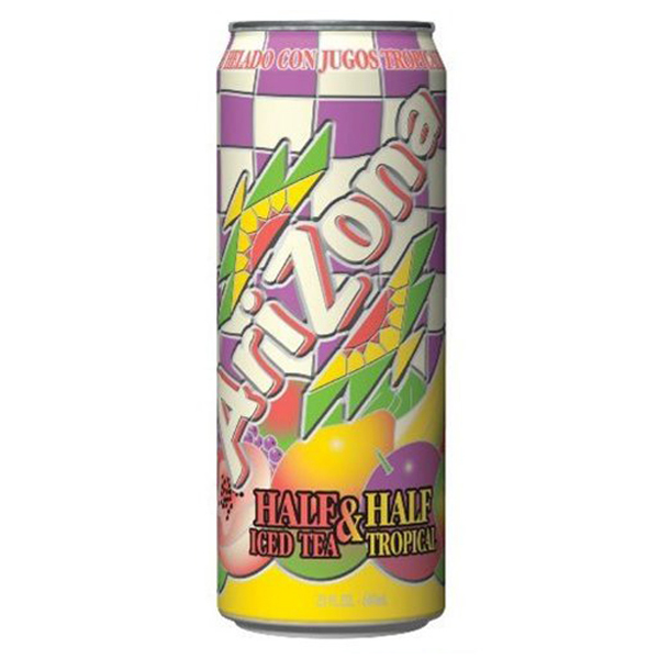 Arizona Tea Half & Half Tropical 23 Oz Big Cans Pack of 24